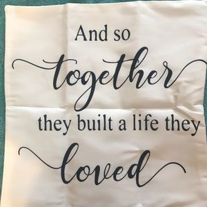 Other - And So Together....Pillow Cover - Brand New